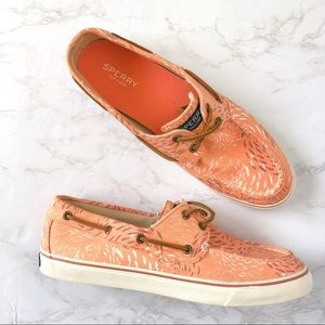 Sperrys Topsider Fish Circle Canvas Boat Shoes